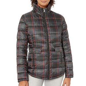 Ralph Lauren Plaid Puffer Jacket MED $190 NWT